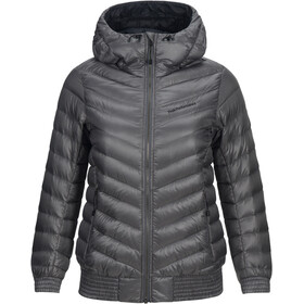 Peak Performance Ice Down Hooded Jacket Dam quiet grey